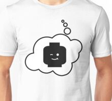 Minifig Winking Head, Bubble-Tees.com Unisex T-Shirt