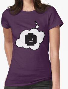Minifig Winking Head, Bubble-Tees.com Womens Fitted T-Shirt