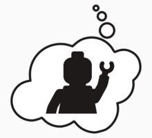 Minifig Waving, Bubble-Tees.com Kids Tee