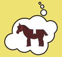 Minifig Horse, Bubble-Tees.com Kids Tee