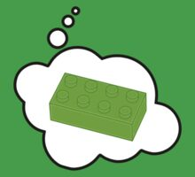 Green Brick, Bubble-Tees.com by Bubble-Tees