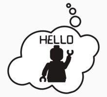 Minifig Hello, Bubble-Tees.com by Bubble-Tees