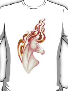 Marbled Fire Horse Portrait Painting T-Shirt