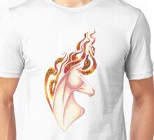 Marbled Fire Horse Portrait Painting Unisex T-Shirt