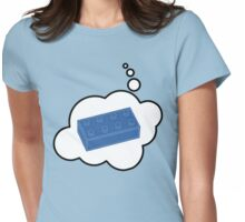 Blue Brick, Bubble-Tees.com Womens Fitted T-Shirt