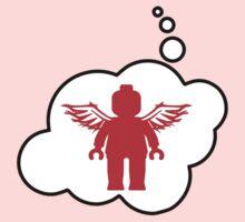 Minifig Angel, Bubble-Tees.com One Piece - Short Sleeve