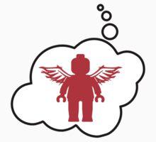 Minifig Angel, Bubble-Tees.com One Piece - Long Sleeve
