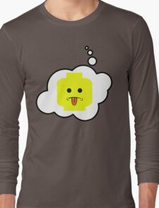 Rude Minifig Head, Bubble-Tees.com Long Sleeve T-Shirt