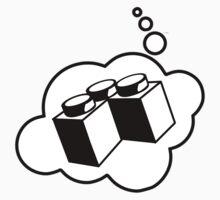 2x2 Corner Brick, Bubble-Tees.com Kids Tee