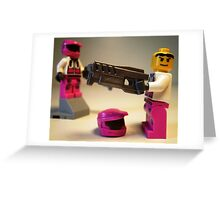 Halo Wars Pink Spartan Soldier Custom Minifigure Greeting Card