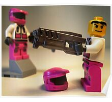 Halo Wars Pink Spartan Soldier Custom Minifigure Poster