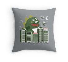 Bubzilla Throw Pillow