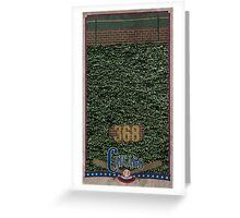 Chicago Baseball Ivy Greeting Card