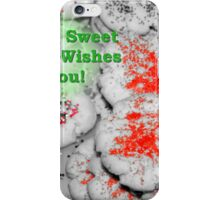 Sweet Holiday Wishes Card iPhone Case/Skin