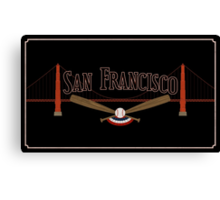San Francisco Baseball Canvas Print
