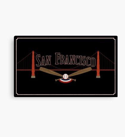 San Francisco Baseball Canvas Print
