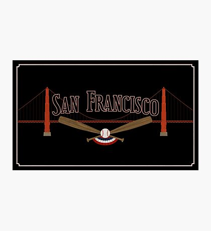 San Francisco Baseball Photographic Print