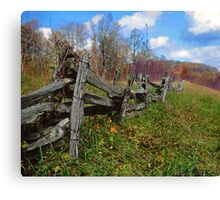 blueridge fence Canvas Print