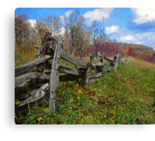 blueridge fence Canvas Print