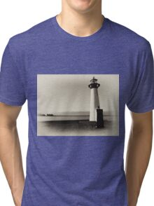 Small old lighthouse in black and white Tri-blend T-Shirt