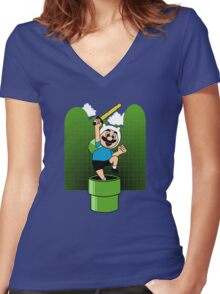 The Finnooki Suit Women's Fitted V-Neck T-Shirt