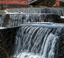 Beautiful Waterfall - falling water by Ron Zmiri