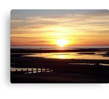 Sunset on the Irish Sea Canvas Print