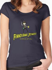 Finndiana Jones and the Temple of Ooo Women's Fitted Scoop T-Shirt