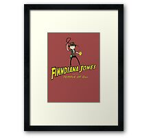 Finndiana Jones and the Temple of Ooo Framed Print