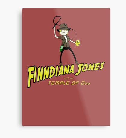 Finndiana Jones and the Temple of Ooo Metal Print