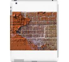 Textured red bricks wall iPad Case/Skin