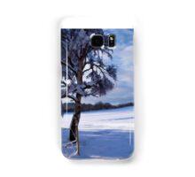 Beautiful winter landscape background Samsung Galaxy Case/Skin