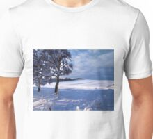 Beautiful winter landscape background Unisex T-Shirt
