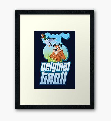 Duck Hunt - The Original Troll Framed Print
