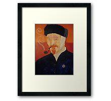 Portriat of Vincent VanGogh Framed Print