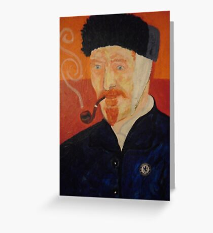 Portriat of Vincent VanGogh Greeting Card