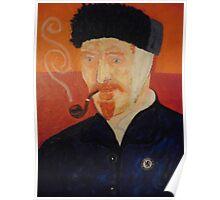 Portriat of Vincent VanGogh Poster