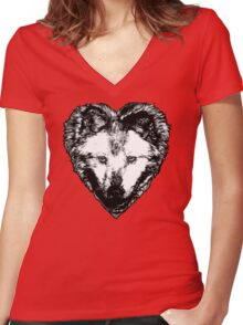 A Hungry heart Women's Fitted V-Neck T-Shirt