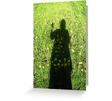 Dress of flowers Greeting Card