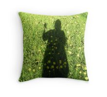 Dress of flowers Throw Pillow
