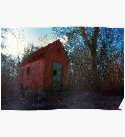 Small rural brick house  Poster