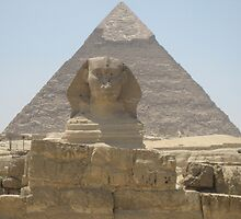 Egyptian Sphinx and Pyramid by Lindori19