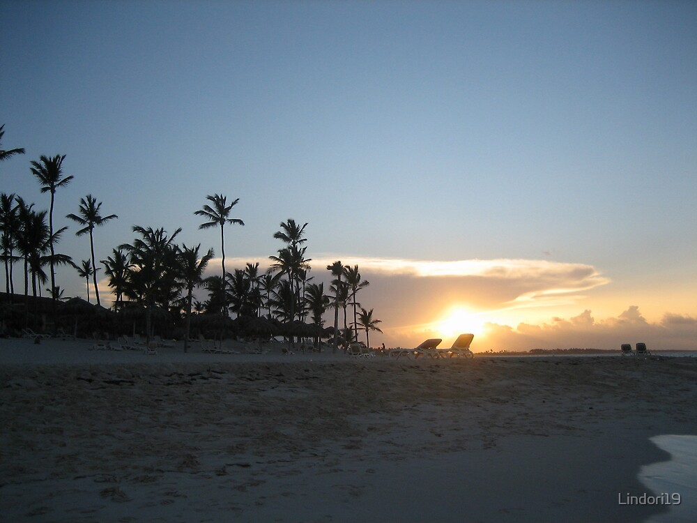 Sunset in Punta Cana Dominican Republic by Lindori19