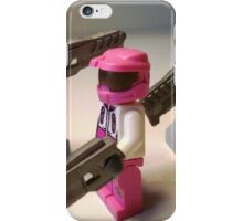 Halo Wars Pink Spartan Soldier Custom Minifig iPhone Case/Skin