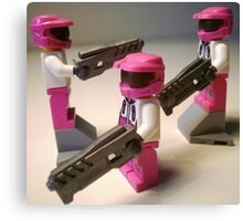 Halo Wars Pink Spartan Soldier Custom Minifig Canvas Print