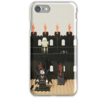 Horror Castle with Vampire, Skeleton and Ghost Minifigs iPhone Case/Skin