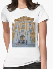 Entering Melk Abbey, Austria Womens Fitted T-Shirt