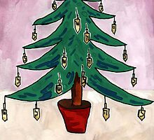 Dreidel Christmas Tree by John Douglas