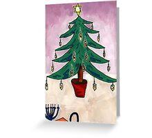 Dreidel Christmas Tree Greeting Card