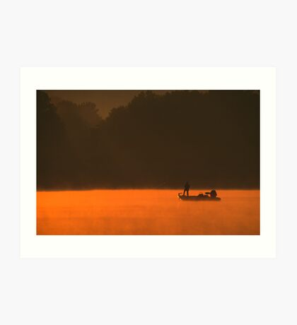 Bass Fishing Art Print